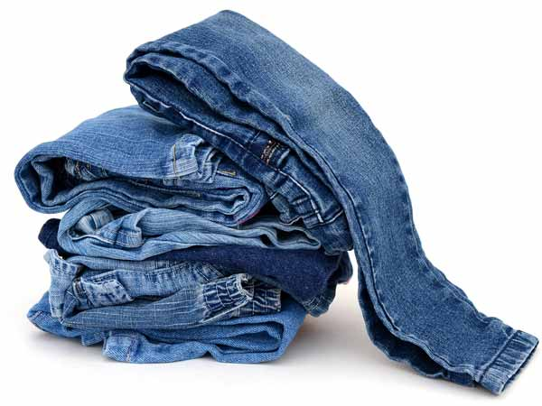 wash jeans with salt tips