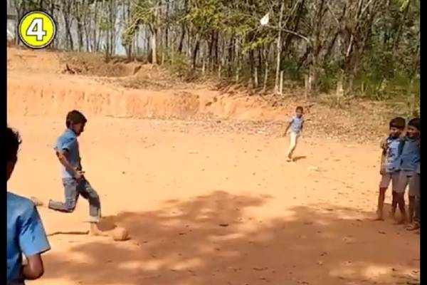 World Class Free Kick By School Students