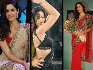 Katrina Kaif Different Sarees