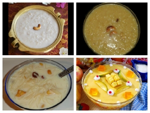Different Types Onam Payasam