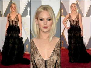 Oscars 2016 Jennifer Lawrence In Dior Gown