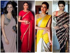 Hottest Saree Looks Of Kajal Agarwal