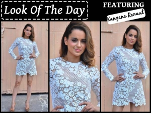 Look Of The Day Kangana Ranaut Wearing Mr Self Portrait