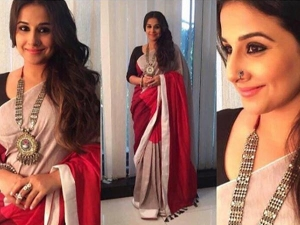 Vidya Balan Wears Udd Saree For Begum Jaan Promotion