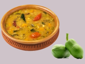 Raw Papaya Sambar Recipe