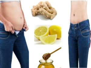 Home Remedy Using Lemon Ginger Reduce Belly Fat