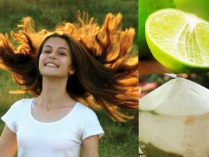 How Stop Hair Loss Using Coconut Water Lemon