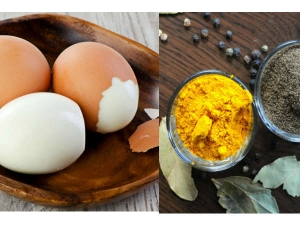 Health Benefits Eating Boiled Egg With Turmeric Pepper