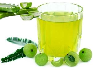 Magic Mix Of Aloe Vera And Amla Juice For Health