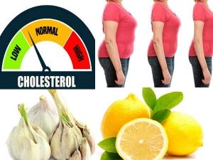 Garlic Lemon Home Remedy Reduce Cholesterol Weight