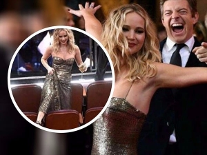 Jennifer Lawrence Hams It Up At The Oscars 2018