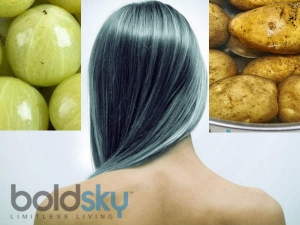 Potato Amla Remedy Blacken Grey Hair
