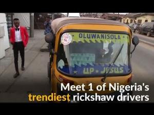 Best Dressed Rickshaw Taxi Driver In Nigeria