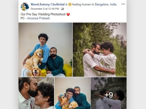 Kerala Gay Couple Pre Wedding Photo Shoot Goes Viral