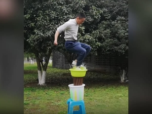 Chinese Man Who Can Jump On Water Goes Viral