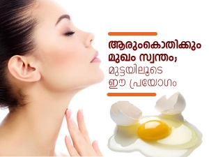 Egg Face Packs And Masks For Healthy Skin
