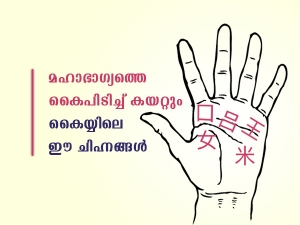 Auspicious Signs And Symbols In Palmistry In Malayalam