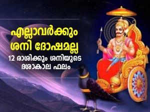 Effects Of Shani Dasha For All 12 Zodiac Signs In Malayalam