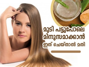 Home Remedies To Get Smooth Hair In Malayalam