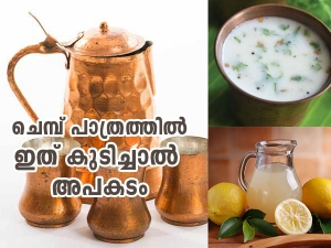 Avoid Having These Drinks From A Copper Vessel In Malayalam