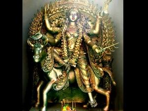 Navratri Day Seven Maa Kalratri Colour Puja Vidhi Aarti Mantra Muhurat Vrat Katha Significance